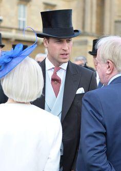 Le prince William à la garden party de Buckingham Palace