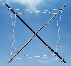 Kenneth Snelson, X frame, X cross, 1971