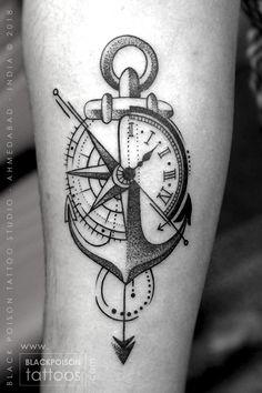 Compass Tattoo, Anchor with Compass Tattoo, Anchor Tattoo . - Compass Tattoo, Anchor with Compass Tattoo, Anchor Tattoo … – Compass T - Navy Tattoos, Arrow Tattoos, Feather Tattoos, Trendy Tattoos, Forearm Tattoos, Foot Tattoos, Sleeve Tattoos, Tattoos For Guys, Nautical Tattoos