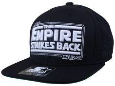 STAR WARS TITLES EMPIRE STRIKES BACK SNAPBACK CAPS | ST-SW-178-BLK-WHT-OS | STARTER | STARTER | Starter Black Label