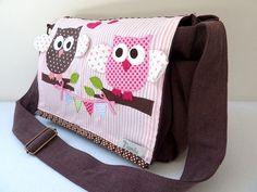 Diaper Bag Personalized Diaper Bag Owl Diaper Bag by NaniluDesign, $95.00