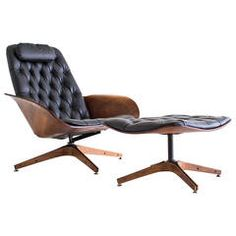 George Mulhauser Lounger Chair and Ottoman for Plycraft 1 Mod Furniture, Furniture Design, Vintage Furniture, Modern Chairs, Modern Lounge, Metal Chairs, Mid Century Furniture, Chair And Ottoman, Sofa Design