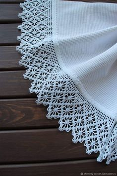 Crochet Boarders, Knitted Hats, Lace, Creative, Fashion, Smocking, Crochet Dishcloths, Crochet Diagram, Sewing Techniques