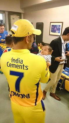 MS Dhoni and his daughter Ziva