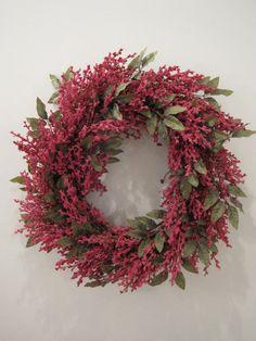 Pink Spring Wreath by ellieboodesigns on Etsy, $50.00