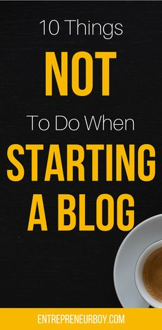 I wish I knew these tips when I first started my blog. There are so many many blogging tips out there but I didn't really know there were things you're not supposed to do when you start a blog. I can't believe how many things I was doing wrong. These are some great tips. I finally feel as though I am now blogging correctly. I am on my way to becoming a pro blogger. Success here I come!