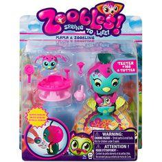 Zoobles Mama & Zooblings Play Set, Penguin & Zoobling