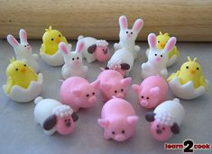 Cute fondant animals!