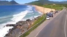 Praia da Caldeira ou do Caldeirão, logo após o Morro das Pedras.