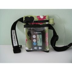 """$33 Gina See Through Case. 2 pockets, front pocket is clear vinyl so you can use/see sensor or insulin pumps through the front. Zippered back pocket can hold iPhone etc. 5""""x3.5"""". Small rotating silver clip to clip can attach to a neck lanyard, belt loops, or a bag (even attach to a larger carabiner if necessary). Also a belt made of nylon webbing which is probably useless. Looks like back pocket is zipper closure but I don't know if the front pocket is Velcro & that's why you can feed an…"""