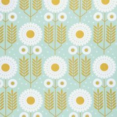 Joel Dewberry - Wander Sateen - Prairie Bloom Sateen in Maize