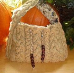 Cabled Boho Bag Pattern | AllFreeKnitting.com