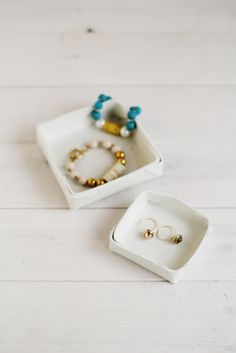 Folded Clay Jewelry Dish by Fall for DIY for Design*Sponge #diy #clay #crafts #howto #jewelry #storage #boxes #trays
