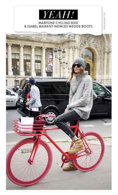 Ha! Rööcht gehabt! Martone Cycling & Isabel Marant Concealed Wedge Boots