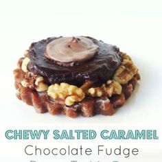 Chewy Salted Caramel Chocolate Fudge Pecan Tart for Two