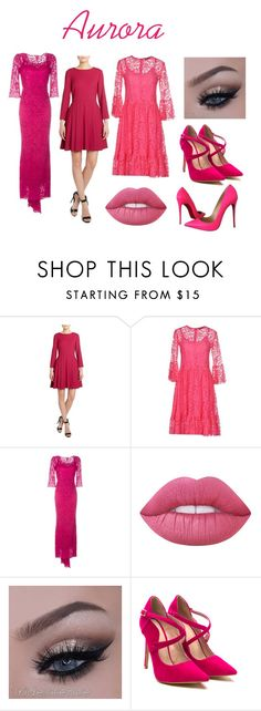 """""""Aurora #2"""" by riki-davis on Polyvore featuring philosophy, Dolce&Gabbana, Lime Crime and Christian Louboutin"""