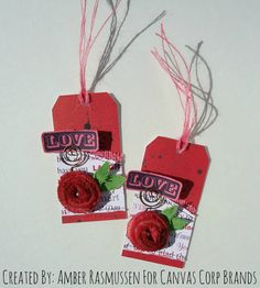 2 Valentine's Day Tags I created For Canvas Corp Brands