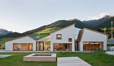 A Kindergarten in the Alps has built a new kindergarten in Terenten, a mountain village in the Val Pusteria in South Tyrol in Italy. South Tyrol is a border region, a territory which is defined by the overlapping of three cultures: th Kindergarten Architecture, Kindergarten Design, Education Architecture, Architecture Student, Facade Architecture, Contemporary Architecture, Kindergarten Pictures, Mountain Village, South Tyrol