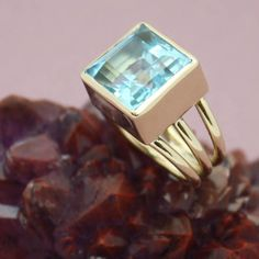 Its cool to be square!  Blue Topaz 1427