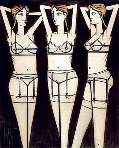 wornjournal:    cavetocanvas:    Bernard Buffet, Three Women, 1965    ***  wornjournal.com