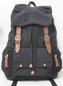 Vintage Canvas Backpack Outdoor Sport Hiking Rucksack Shoulders Bag Bookbag