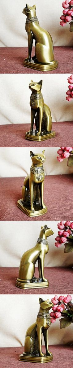 Egyptian cat model metal craft desktop home decor souvenir gifts photography props