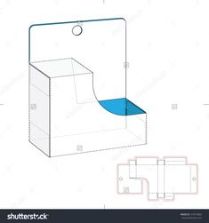 Pharmaceutical Package With Die Cut Template Stock Vector Illustration 319574984 : Shutterstock