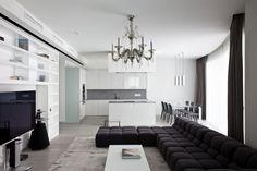 Apartment in Mirax Park by Boris Borovsky Uborevich | HomeDSGN