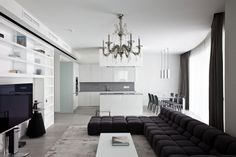 Apartment in Mirax Park by Boris Borovsky Uborevich | HomeDSGN