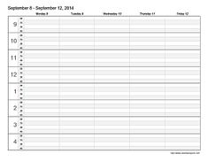 Weekly Appointment Planner / Schedule Printable PDF by tidymighty ...