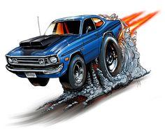 1972 Dodge Demon Muscle Car Cartoon Auto T-SHIRT #9254 automotive art in eBay Motors, Parts & Accessories, Apparel & Merchandise   eBay
