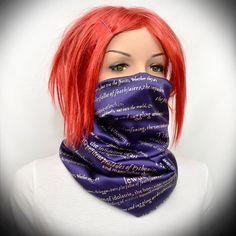 Blue silk scarf -Infinity scarf by Pixiesdance