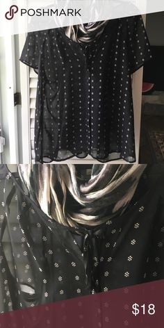Old Navy xxl black top I have really loved this piece. Excellent condition, sheet top to layer over a cami. Cute with everything and roomy fitting. Can be completely unbuttoned which is nice. Old Navy Tops Blouses