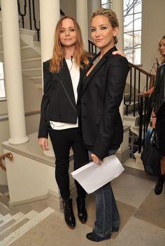 British Vogue's Inaugural Fashion Fest Stella McCartney and Kate HudsonStella McCartney and Kate Hudson Kate Hudson, Vogue Fashion, Fashion News, Pixie Geldof, Le Smoking, Holy Chic, Female Stars, Fashion Sketches, Beauty