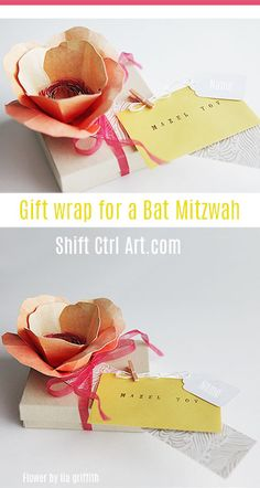 Creative gift wrap for a cash gift. Incredibly beautiful!!