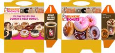 Printable Dunkin' Donuts box