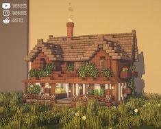 Minecraft Farm House, Minecraft Mansion, Easy Minecraft Houses, Minecraft House Tutorials, Minecraft Room, Minecraft Plans, Minecraft House Designs, Minecraft Decorations, Amazing Minecraft