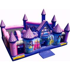 15 top princess bounce house images princess bounce house rh pinterest com