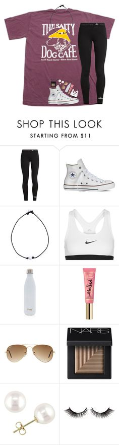 """RTD!!"" by lindsaygreys ❤ liked on Polyvore featuring adidas, Converse, NIKE, S'well, Too Faced Cosmetics, Ray-Ban, NARS Cosmetics and Miadora"