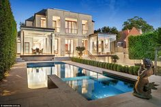 Property Report for 43 Lansell Road, Toorak VIC 3142 Beautiful Architecture, Architecture Design, Luxury Property For Sale, Backyard House, Wattpad, Dream Pools, Couple, Exterior Design, Luxury Homes