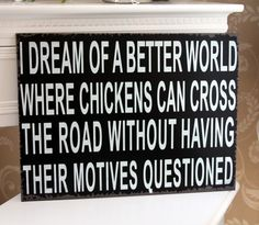 chicken dream sign plaque life love fun french shabby vintage chic gift home picture