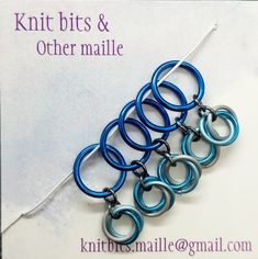 Extra Large Knitting Stitch Markers Stitch Markers, Knitting Stitches, Blue And Silver, Pretty Little, Different Colors, Handmade Items, How To Make, Etsy, Shop