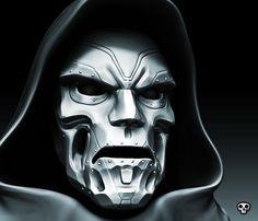 Doom: Metal masks hide much. Adam Warlock Marvel, Dr Doom Marvel, Marvel X, Superhero Villains, Marvel Villains, Comic Book Characters, Comic Character, Black Paper Drawing, Fantasy Comics