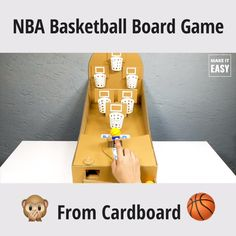 Creative fun and super cheap NBA Basketball Board Game Diy Crafts Hacks, Diy Crafts For Gifts, Diy Home Crafts, Fun Crafts, Indoor Games For Kids, Diy For Kids, Kids Fun, Paper Crafts For Kids, Craft Activities For Kids