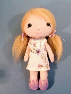 Tiny Handmade Stuffed Pocket Doll by ArtsySewin on Etsy, $15.00