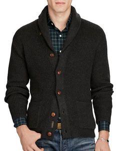 JGA27-RED) Mens Slim Fit Basic Knitwear Shawl Collar 2 Pocket ...
