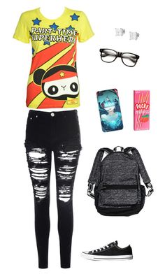 """""""Untitled #5089"""" by northamster ❤ liked on Polyvore featuring Tressa, Converse, Newbreed Girl, Glamorous and Victoria's Secret"""