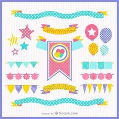 Banderines y adornos de fiesta