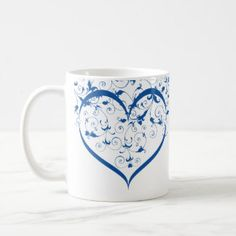 Valentine Special Love branch Combo Mug at Just Made by Zazzle off with code Valentine Special, Tea Cups, Coffee Mugs, Tableware, Gifts, Beautiful, Design, Dinnerware, Presents