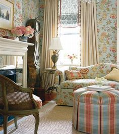 Luxury And Elegant French Country Interior Design Ideas With Blue Flower  Themes